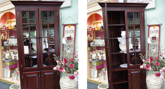 Corner Hutch and Buffet