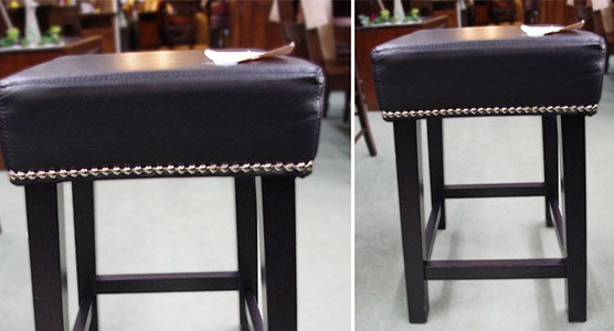 Leather Seat Stools