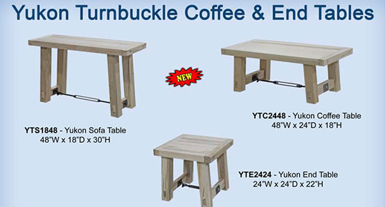 Yukon Turnbuckle Living Room Tables