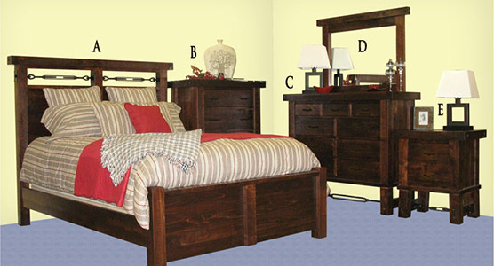 Yukon Turnbucle Bedroom Set