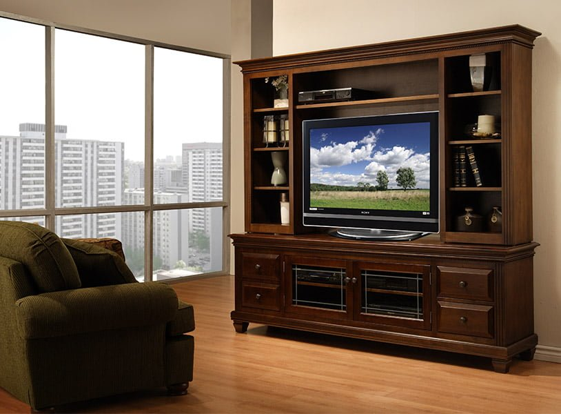 wood entertainment unit