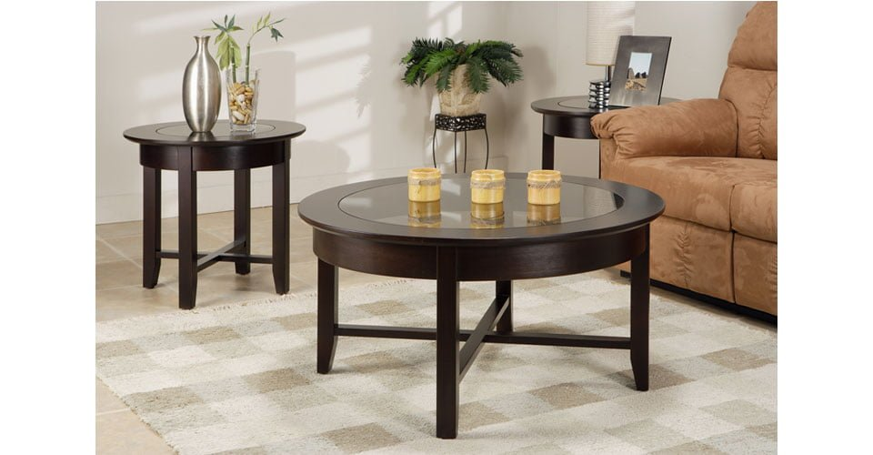 Demi lune living room tables millbank family furniture - Table cuisine demi lune ...