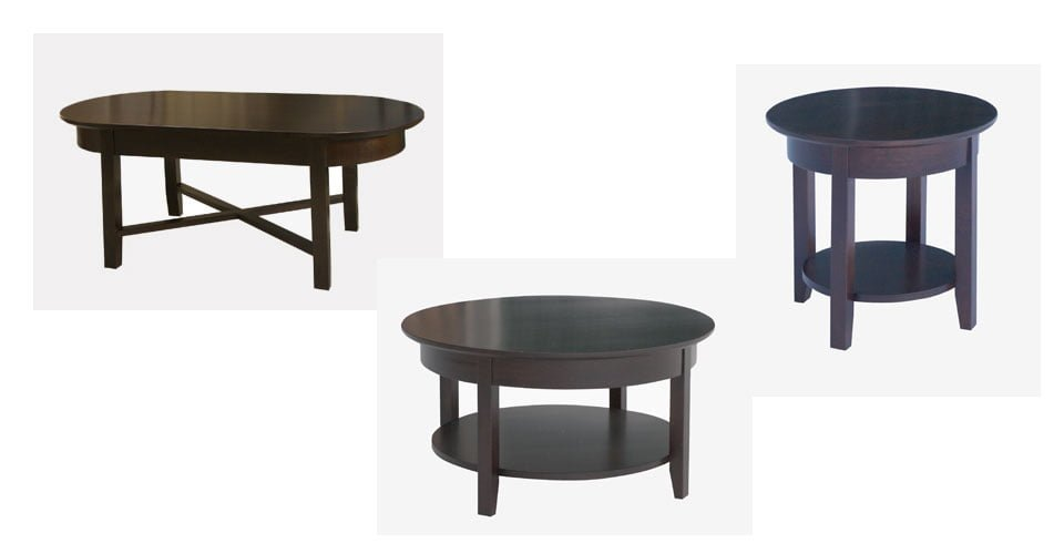 Demi Lune Living Room Tables Millbank Family Furniture