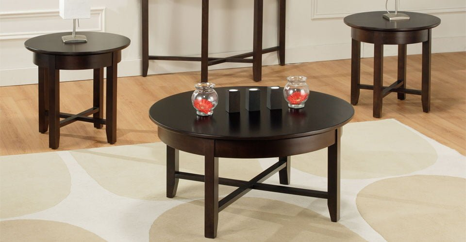 Demilune coffee table set millbank family furniture millbank on n0k1l0 Living room coffee table sets