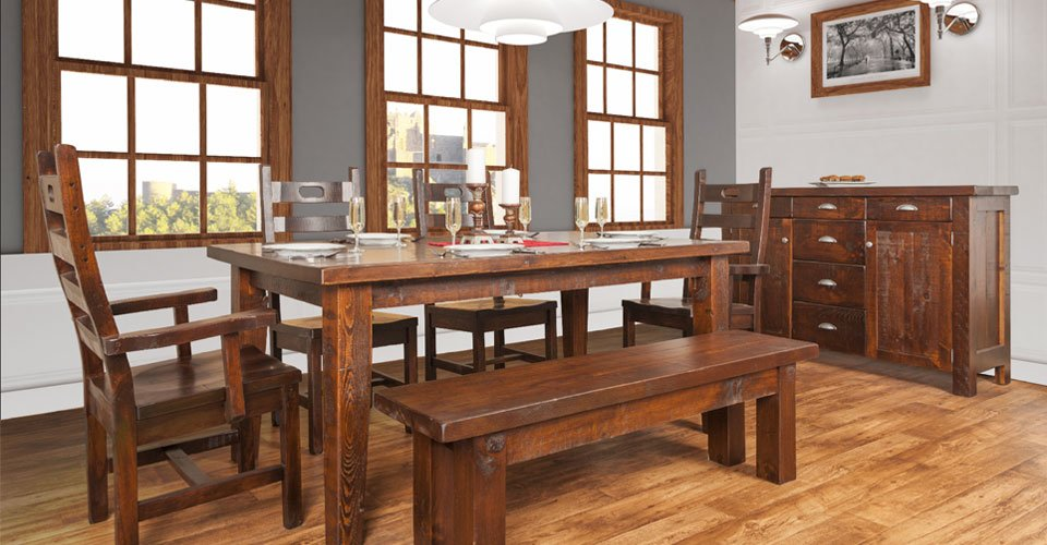 unique and stunning rustic dining room furniture