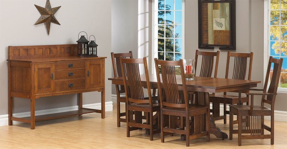 mission dining room set millbank family furniture
