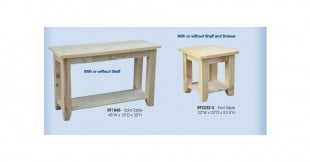 Rough Cut Living Room Tables