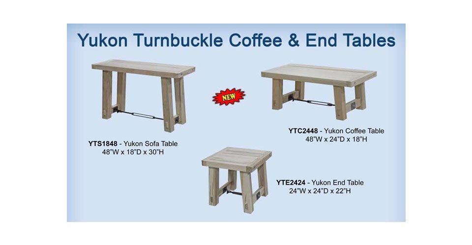 Yukon Turnbuckle Living Room Tables
