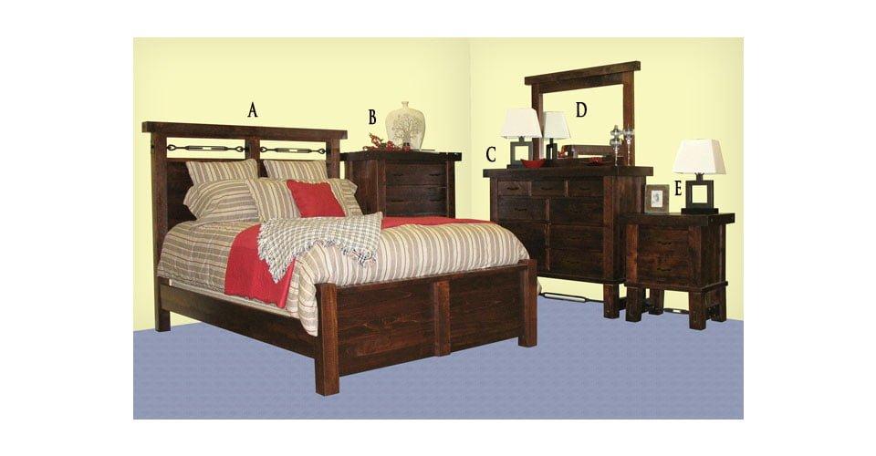 Yukon Turnbucle Bedroom Set