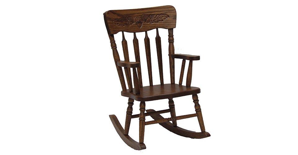Pressback Child's Rocking Chair